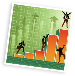 vector graphic of a business chart